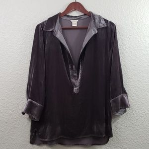 Sundance Everdeen Silk Velvet Tunic size small